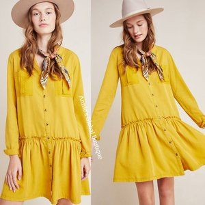 NWT ANTHROPOLOGIE Marlie Button-Front Tunic Dress